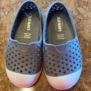 Gray & white water shoes